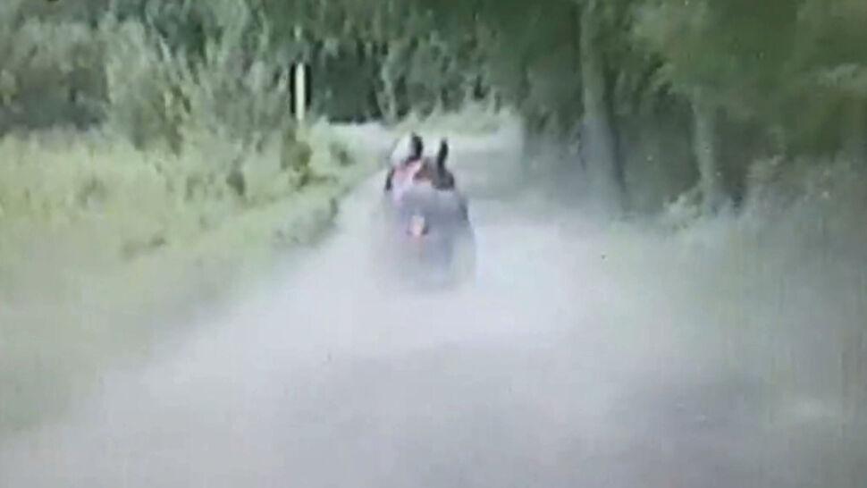 Trzech nastolatków wjechało quadem do rowu, uciekając przed policją
