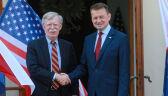 """Szef MON spotkał się Johnem Boltonem. """"Rozmawialiśmy o kolejnej lokalizacji dla wojsk amerykańskich"""""""