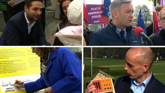 Spotkania, podpisy pod paktem i nagrania polityków. Kampania wkracza w decydującą fazę