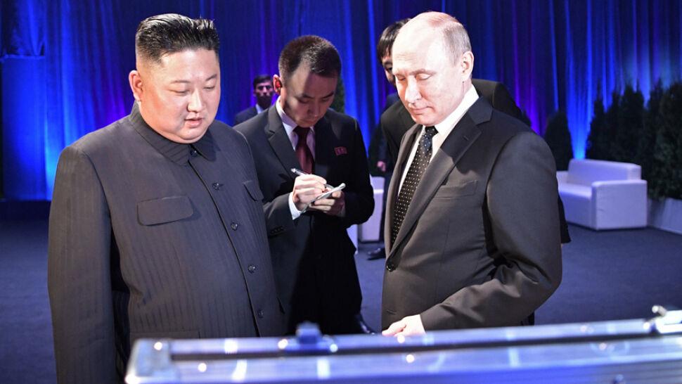"""Spotkanie Kim-Putin. """"Bardzo owocna rozmowa w cztery oczy"""""""