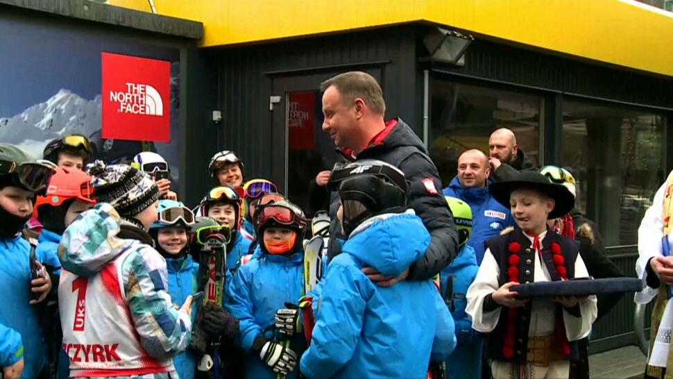 Prezydent otworzył nową kolej linową dla narciarzy