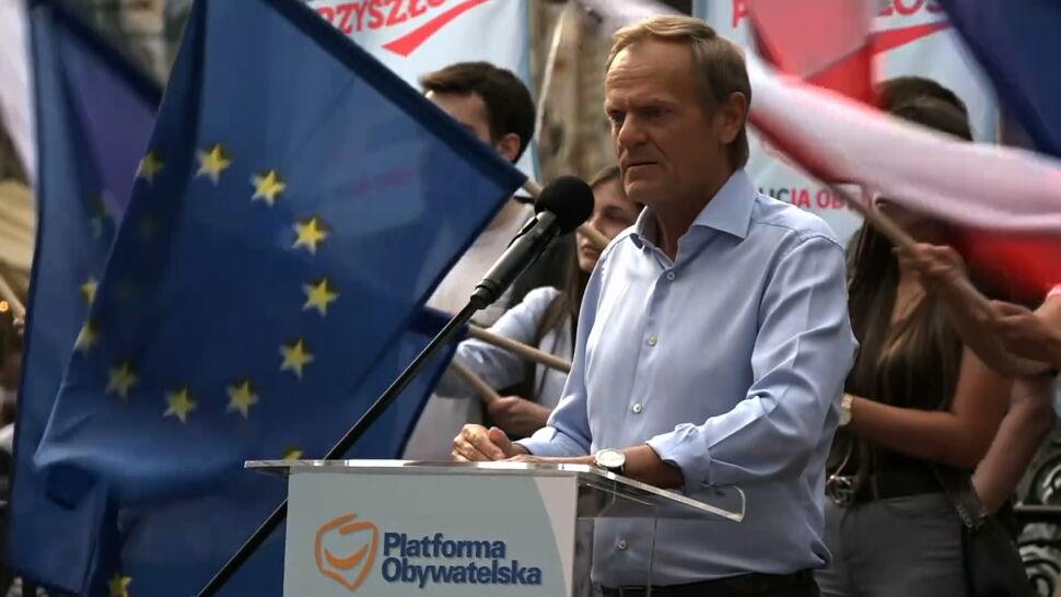 """Tusk wzywa Kaczyńskiego do debaty. """"Stań ze mną twarzą w twarz"""""""
