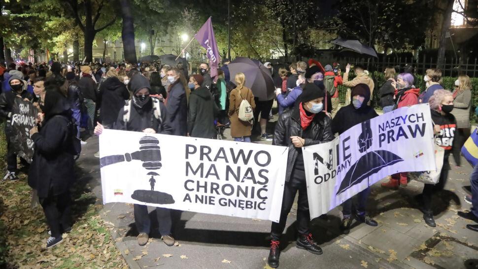 Protesty po decyzji Trybunału Konstytucyjnego