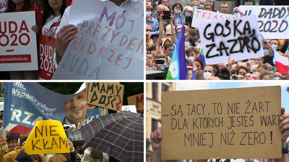 Plakaty, okrzyki i spotkania z przeciwnikami. Nieprzewidziane sytuacje na kampanijnym szlaku