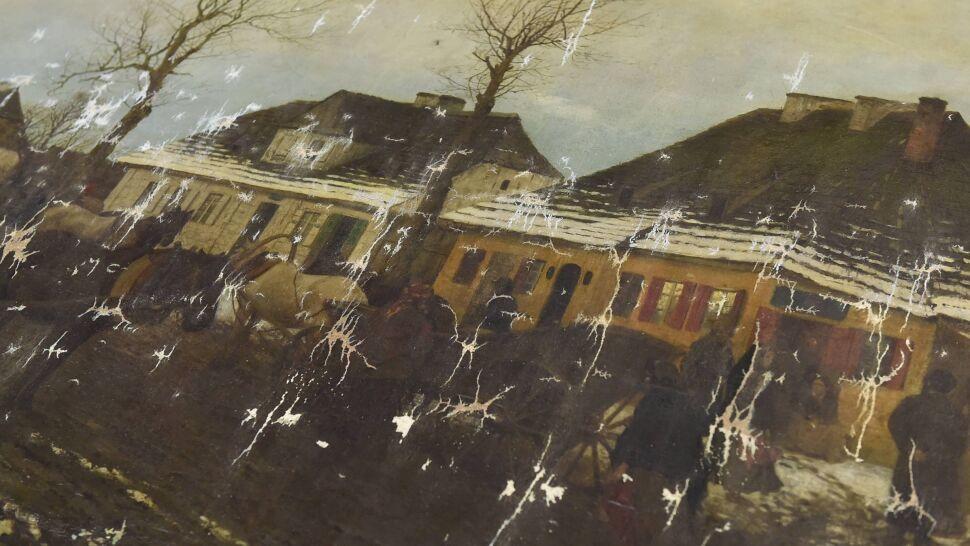 """""""Zima w małym miasteczku"""" miała być spalona. """"Obraz znaleźliśmy na terenie jednej z galerii w Krakowie. Handlowej"""""""