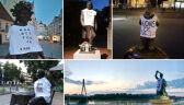 03.08.2018 | Pomniki w koszulkach z napisem KONSTYTUCJA. Happening członków KOD