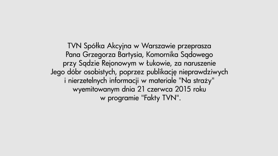 Oświadczenie TVN
