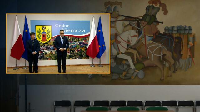 Niemcza. Przed wizytą premiera zamalowano fresk w urzędzie - Fakty TVN online