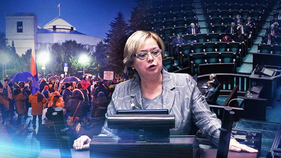 Puste ławy i brak prezydenta. Tak Sejm pracuje nad zmianami w sądach