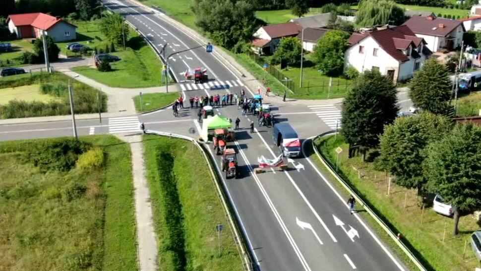 Drugi dzień protestu rolników. Blokady dróg w wielu miejscach w Polsce