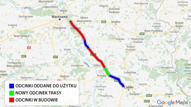 Trasa S17 między Warszawą a Lublinem tvnwarszawa.pl