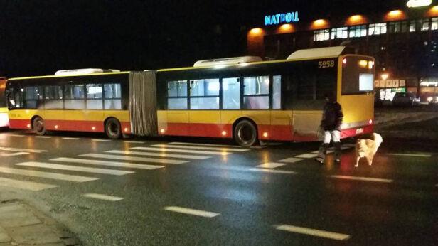 "Autobusy ""parkują"" na przejściu  facebook"