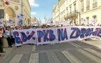 Protest lekarzy rezydentów na Miodowej