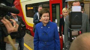 Pociągi jeżdżą na Okęcie Prezydent testowała nowa linię