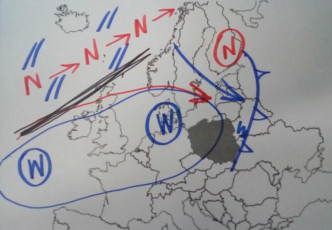 Pogoda w Europie na rysunku Tomasza Wasilewskiego