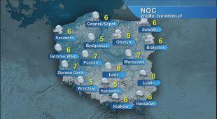 Prognoza pogody na noc 223/24.05